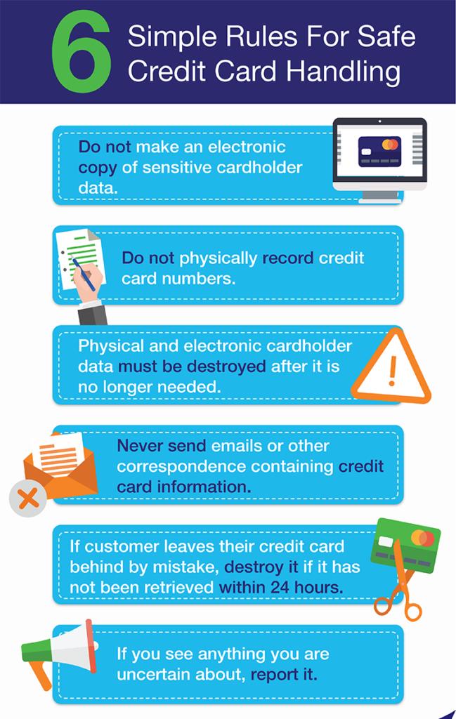 safe credit card handling tips